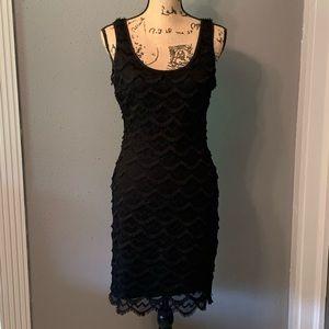 Black Guess fringe dress